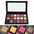 18 Colores Establecidos Mujeres Maquillaje Cosmético Shimmer Mate Paleta Sombra de ojos Cejas Sombra de Ojos Pigmento de la Sombra de Ojos Del Brillo Del Diamante BD