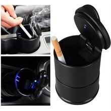 Авто Пепельница автомобильная пепельница грузовик сигарета огнестойкий материал легко чистить подходит для большинства чашек светодиодный светильник