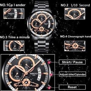 Image 2 - NIBOSI mężczyźni zegarki Top marka luksusowe Chronograph mężczyźni zegarki sportowe wodoodporny pełny stalowy zegarek kwarcowy męski Relogio Masculino