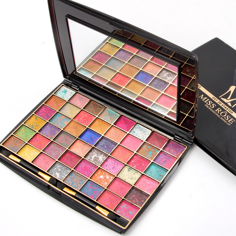 48 Colors Eyeshadow Mixed color Palette Silky Powder Professs