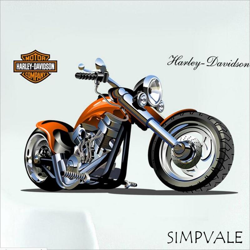 Extraíble Pared Pared decoración del hogar Decoración de la motocicleta Harley T