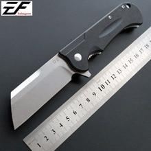 Eafengrow EF227 Camping Folding Knife D2 Steel Blade Black G10 Handle Outdoor Pocket Knives Tactical Survival Tool