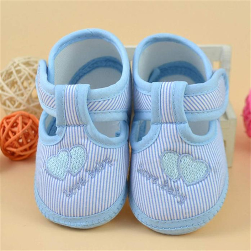 100% Brand New And High Quality Newborn Girl Boy Soft Sole Crib Toddler Shoes Canvas Sneaker Anti-slip design keeps baby in safe