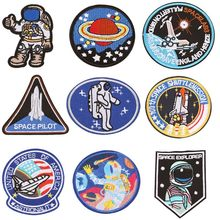 New Pilot Astronaut Patches Space Airship Cloth Iron On Badge Mend Decorate Jeans Jackets Bag Shoes Clothes Decoration Appliques(China)