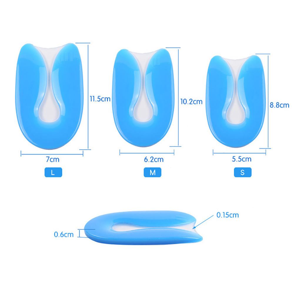 1Pair Silicone Gel Heel Cushion Insoles Soles Relieve Foot Pain Protectors Spur Support Shoes Pad Woman Foot Care Accessories in Foot Care Tool from Beauty Health
