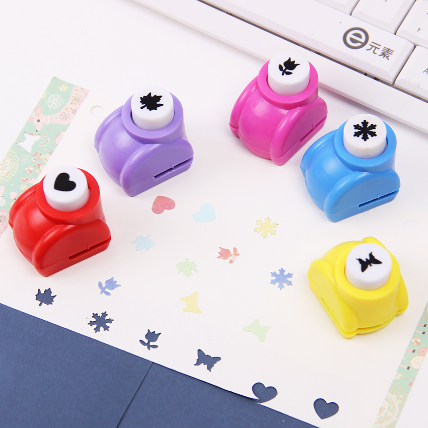 1PC Mini Kids Gift Scrapbooking Punches Handmade Card Craft Printing Hole Punch DIY Flower Paper Craft Maple Leaf Star Shape