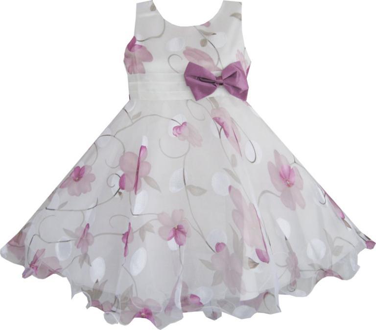 Buy sunny fashion girls dress purple for Purple summer dresses for weddings