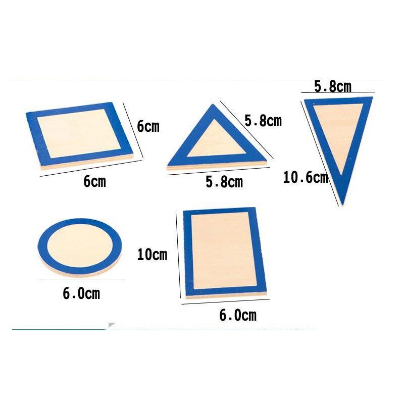 Montessori matériaux sensoriels solides géométriques avec des Bases jouets éducatifs préscolaires d'apprentissage pour les enfants Juguetes E2964H - 5