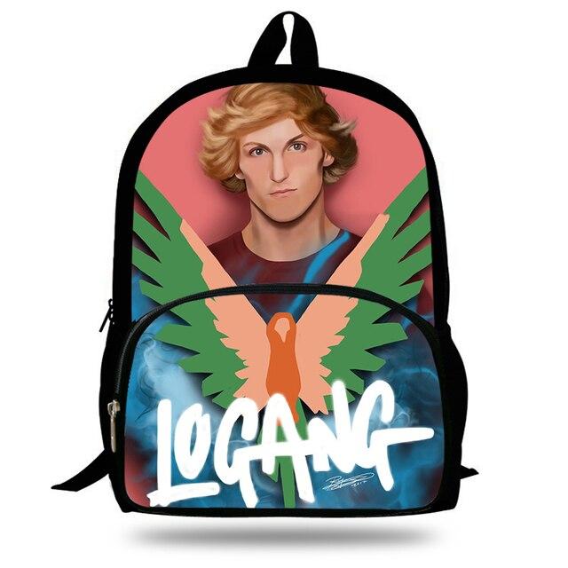 97891e4ccb 2018 New Maverick Logang Logo Logan Paul Children School Bags for Teen Boy  Girls Students Pencil Bag Backpack Mochila Escolar