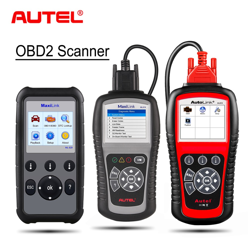 Autel OBD2 Auto Scanner Diagnostic Tool ML629 ML519 AL619 Automotivo Automotriz Automotive OBD 2 EOBD Car Diagnostic Scanner
