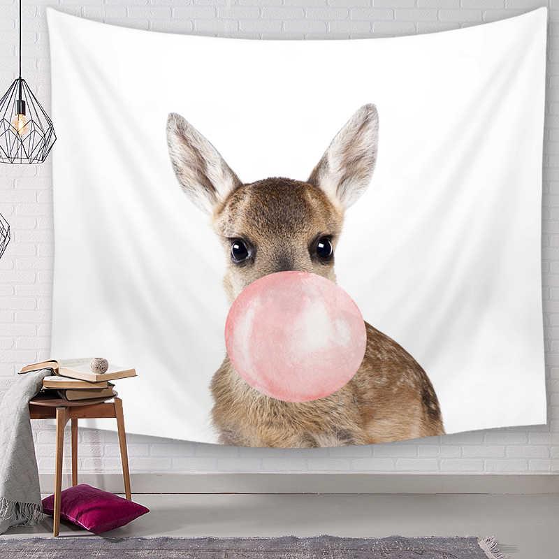 בעלי החיים דקורטיבי שטיחי קיר תלוי שטיחי המנדלה בוהמי מארג נוף טפט קיר אמנות צעיף לזרוק