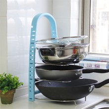 Black Pan Cover Stand Holder Kitchen Racks Racks Ladle Spoon Storage Rack Shelves Lid Shell Kitchen Ware Tool