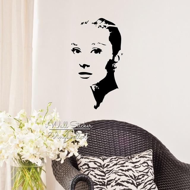 beautiful lady audrey hepburn wall sticker audrey hepburn wall decal