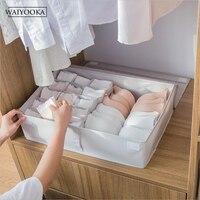 16Grid Drawer Closet Organizers Boxes For Underwear Home Storage Women Clothes Scarfs Socks Bra Wardrobe Organizer Storage Box