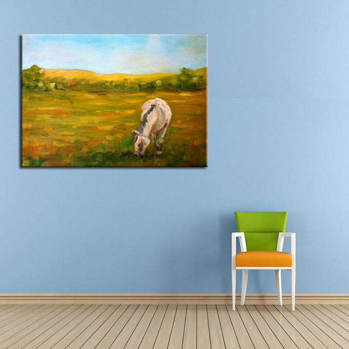Wall Pictures High Quality Unique Abstract Landscape Eating Sheep Oil Painting On Canvas For Wall Sheep Pictures Free Shipping