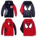 Casacos Spiderman varejo para crianças roupa nova primavera outono casaco infantil meninos casacos com capuz crianças bebê dos desenhos animados outerwear