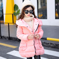 Christmas Girls Coats and Jackets Winter Girls Jacket Hooded Kids down Coat with Sashes Roupas Infantis Menina Girls Outerwear