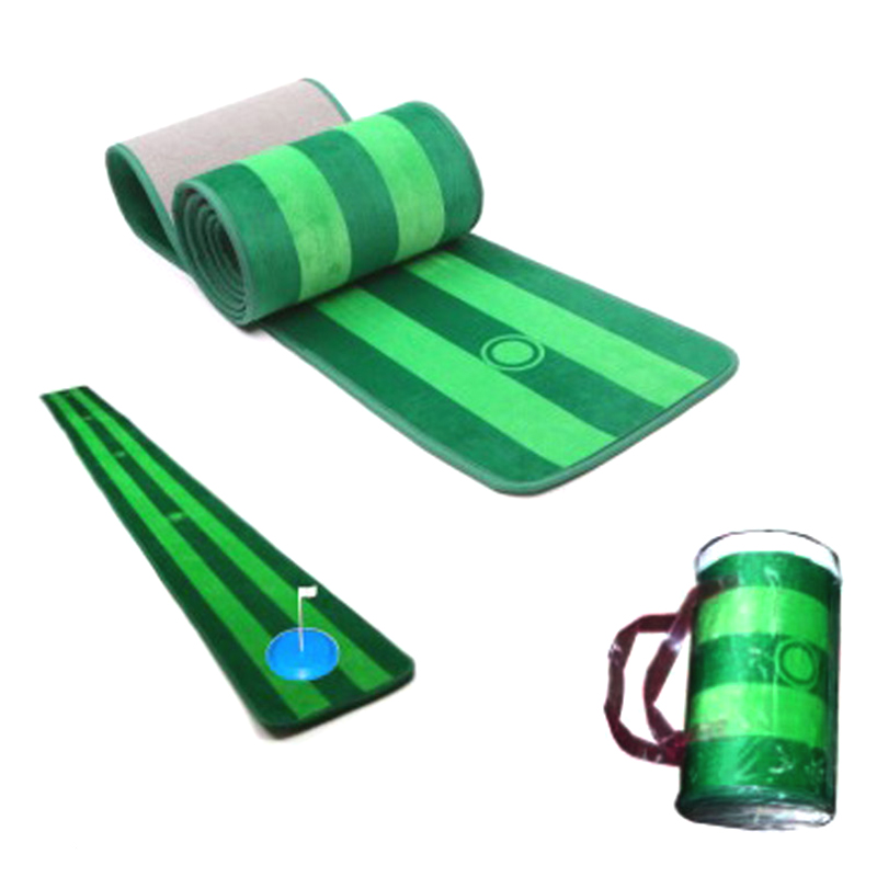 Golf putter practice green exercise blanket home entertainment simulation blanket putting mat golf training aids golf putting mat mini golf putting trainer with automatic ball return indoor artificial grass carpet