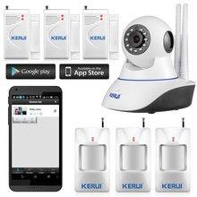 Wifi Cámara IP Seguridad para el Hogar Sistema de Alarma con Sensor de Movimiento PIR, Aplicación inalámbrica de Control Con Luz Nocturna Por Infrarrojos