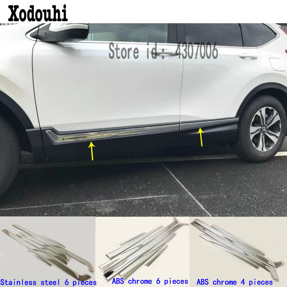Chrome Body Door Side Molding Cover Trim Garnish for Jeep Cherokee 2014-2019