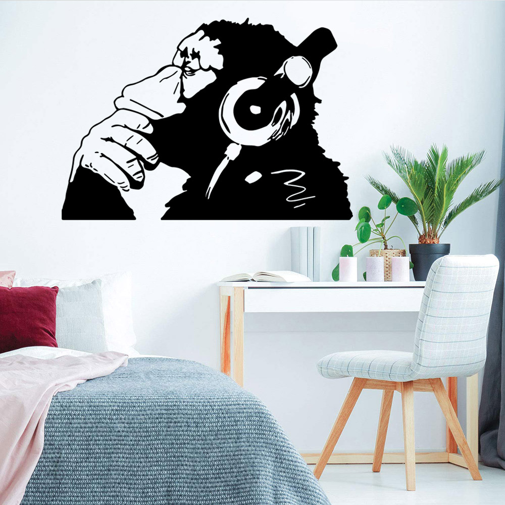 Largemonkey music Stickers For Kids Rooms Nursery Room Decor Diy Pvc Home Decoration naklejki na sciane in Wall Stickers from Home Garden
