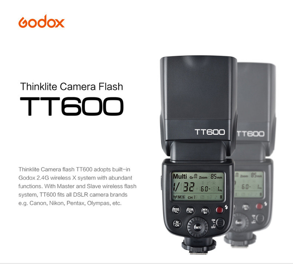 Godox TT600 GN60 2.4G Wireless Camera Flash Speedlite Flashgun for Canon Nikon Pentax Olympus All DSLR Cameras flashgun wireless speedlight flashlight flash speedlite for canon 60d 6d 650d 600d 5dii 7d dslr camera