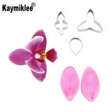 Орхидея цветок лепесток ветер и резак силиконовые формы мастика