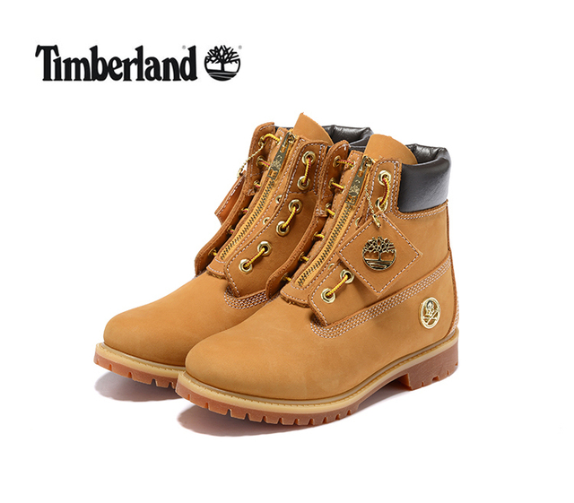 TIMBERLAND Men s Premium Zip Golden Boots,Men Genuine Leather Ankle Wheat  Yellow Outdoor Lace-Up Wearable Casual Shoes 6735R ec19c0fa7cf