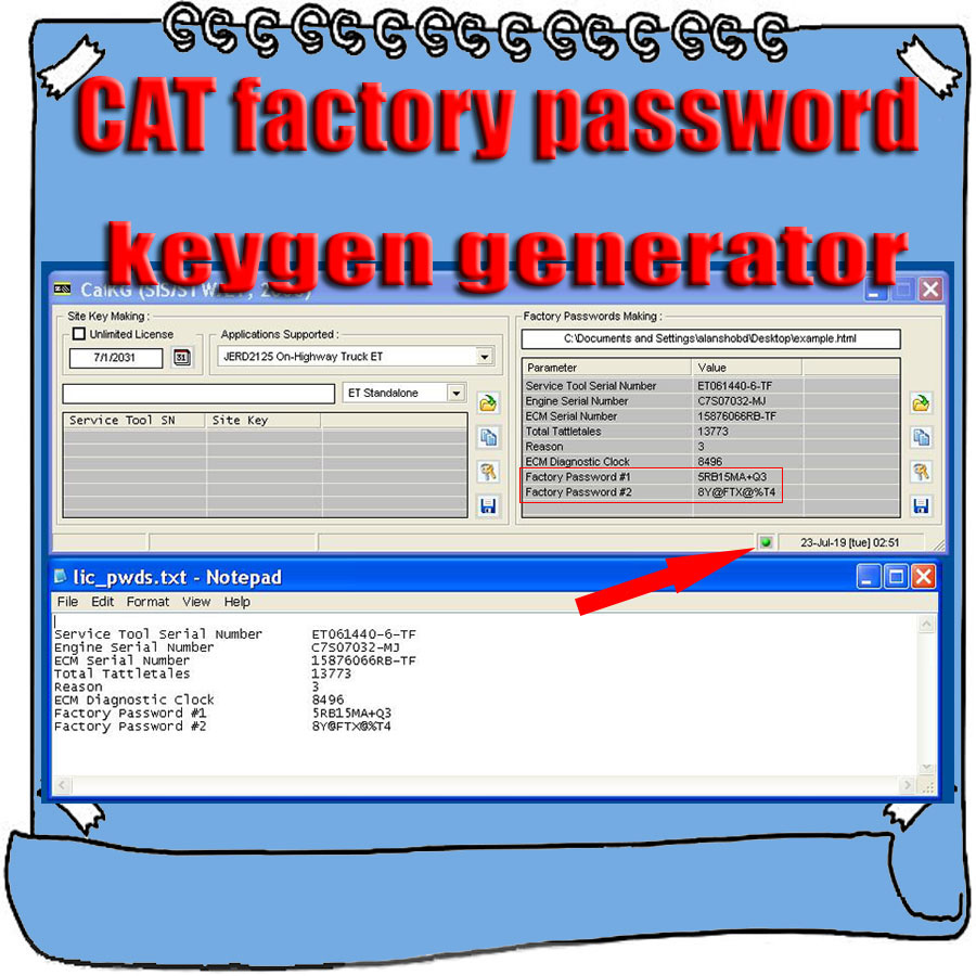 US $669 0  Aliexpress com : Buy New ET Factory Passwords Making Keygen  Generator Support Windows XP/Vista/7/8/10 for Cat from Reliable Software