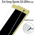 Full Cover For Sony Xperia XA Ultra F3211 F3212 F3213 F3215 F3216 Tempered glass 3D Cover Screen Protector protective film Case