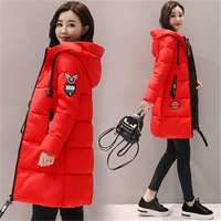 Parka Women 2018 New Winter Down jacket Women Coat Long Hooded Outwear Female Parka Thick Cotton Padded Female Basic Coats LU666