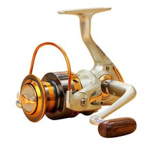 High quality 1000-7000 series 12BB Fishing Reels Spinning Metal Spool Reel Wheel for Fish Coil 5.5:1 Ratio