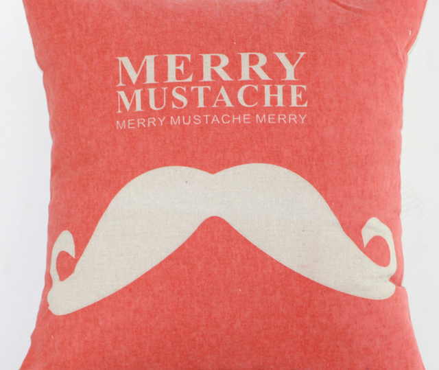 Merry Mustache Lovely Creative Red Pillow Decor Emoji Pillow Massager  Decorative Pillows Home Decoration Gift For