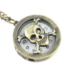 2017 Antique Vintage Steampunk Retro fashion Necklace Pocket Watch Drop Shipping dropshipping 3.24