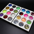 Mix 3D Acrylic Nail Art Glitter Dust Powder Nail Art Tip Decoration DIY Make Up Nail Beauty Decoration