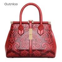 2018 Vintage Embossed Leather Luxury Women Bags Designer Handbags Elunico Ladies Boho Top handle Shoulder Bags Sac a Main Femme