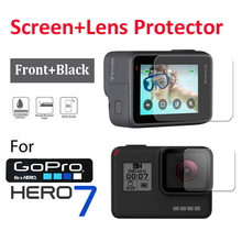 2Pcs LCD Screen+Lens Protector Tempered Glass Film For GOPRO