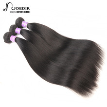 Joedir Indian Hair Bundles Forfarvede 3 Bundle Straight Hair Extension Non Remy Menneskehår Bundle Cheap Hair Weave