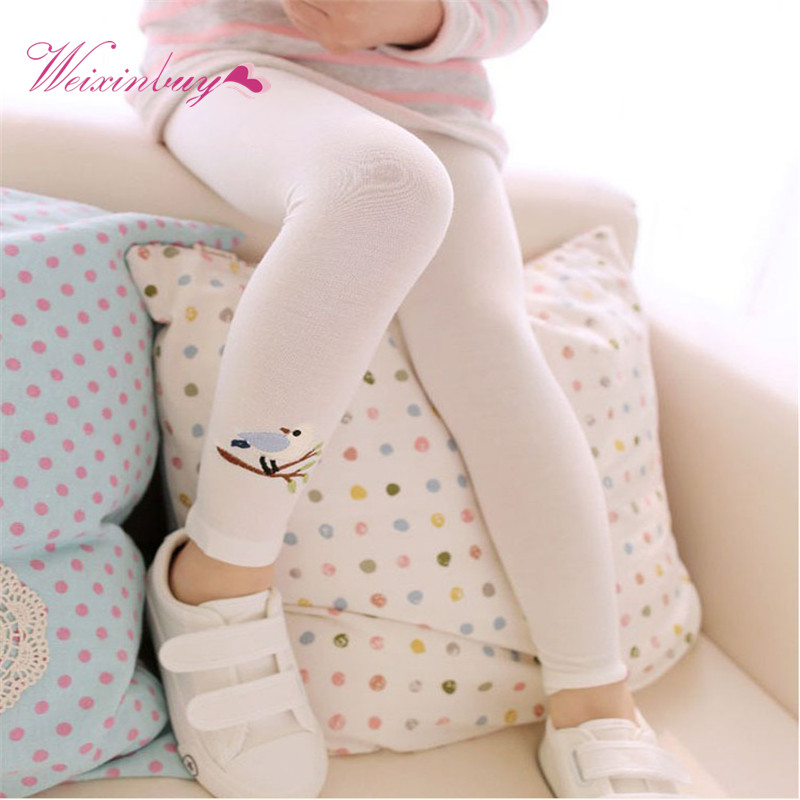 d9b4a2fe5 Hot Sell Baby Girl Stretch Leggings Pants Toddler Child Candy Color Trousers