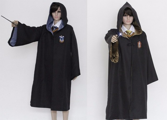 Robe Cape Cloak Gryffindor Slytherin Ravenclaw Hufflepuff Robe Cosplay Costumes Kids Adult for Harri Potter Cosplay 2