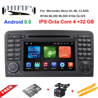 Octa Core 7''Car Android 8.0 Car DVD GPS Player For Mercedes Benz ML W164 W300 ML350 ML450 ML500 GL X164 G320 GL350 GL450 GL500