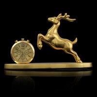 Car Ornament Lucky Horse Deer Cow Leopard Gourd Perfume Clock Decor Auto Interior Decoration Air Freshener Accessories Gift