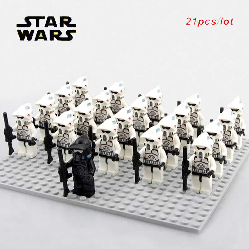 21pcs/lot Star wars Scout ARF Shadow Imperial Clone trooper soldier Special Offer Commander COMPATIBLE LEGOES block toys