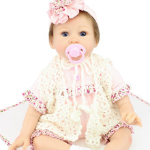 Cheap Realistic Silicone Reborn Baby Dolls For Sale 22 Inches 55 cm Lifelike Reborn Baby Doll Toys For Child Best Birthday Gifts
