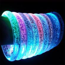 Migająca bransoletka led Light Up akrylowa świecąca bransoletka świecące zabawki dla dzieci świecące w ciemności świecące pierścienie bransoletka tanie tanio MezoJaoie Z tworzywa sztucznego None 2-4 lat 5-7 lat 8-11 lat 12-15 lat Dorośli Illuminated bracelet Blask w ciemności