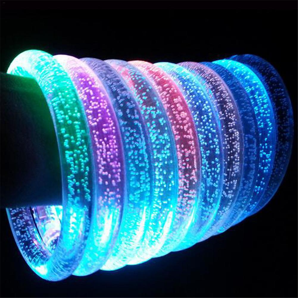 Pulsera intermitente LED iluminada, pulsera luminosa acrílica, juguetes luminosos para niños que brillan en la oscuridad, anillos luminosos, pulsera 24 LEDs discoteca UV Bar luces fiesta Dj lámpara UV Color Wash LED de pared luces para Navidad láser proyector etapa pared luces
