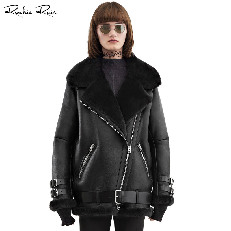 2018 New Women S Oversized Genuine Leather Jacket