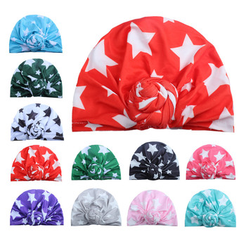 ON SALE 1PCS Children Winter Warm Hats India Cap for Kid Turban Hats Star Knot Skullies Beanie Girl Head Wrap Bohemian Cap