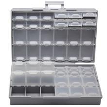 AideTek montaż powierzchniowy elektronika pudełka do przechowywania i organizery plastikowa komora tinyassortmt box rezystor kondensator BOXALL48 tanie tanio Z tworzywa sztucznego AIDETEKBOXALL48