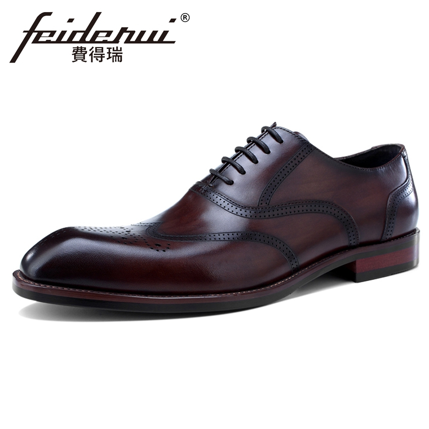 New Vintage Genuine Leather Mens Carved Oxfords Square Toe Man Wedding Party Flats Formal Dress Breathable Brogue Shoes BQL150New Vintage Genuine Leather Mens Carved Oxfords Square Toe Man Wedding Party Flats Formal Dress Breathable Brogue Shoes BQL150